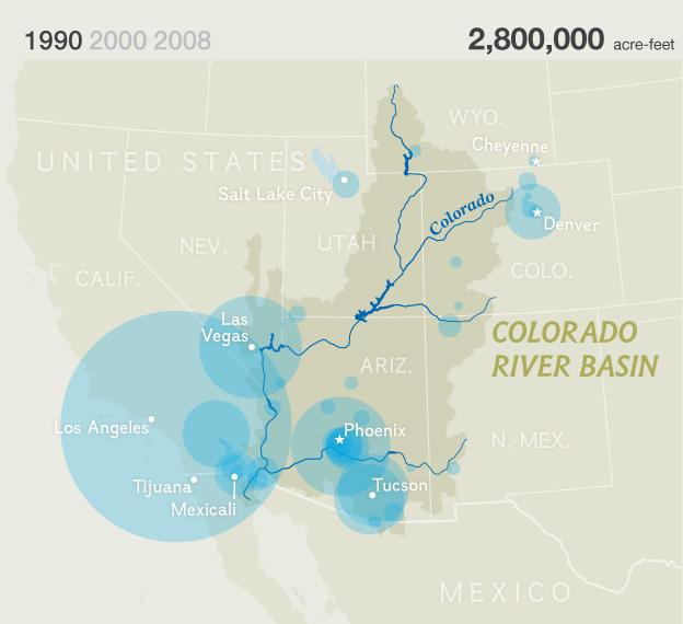 American Nile Saving The Colorado National Geographic - Calorado river us map