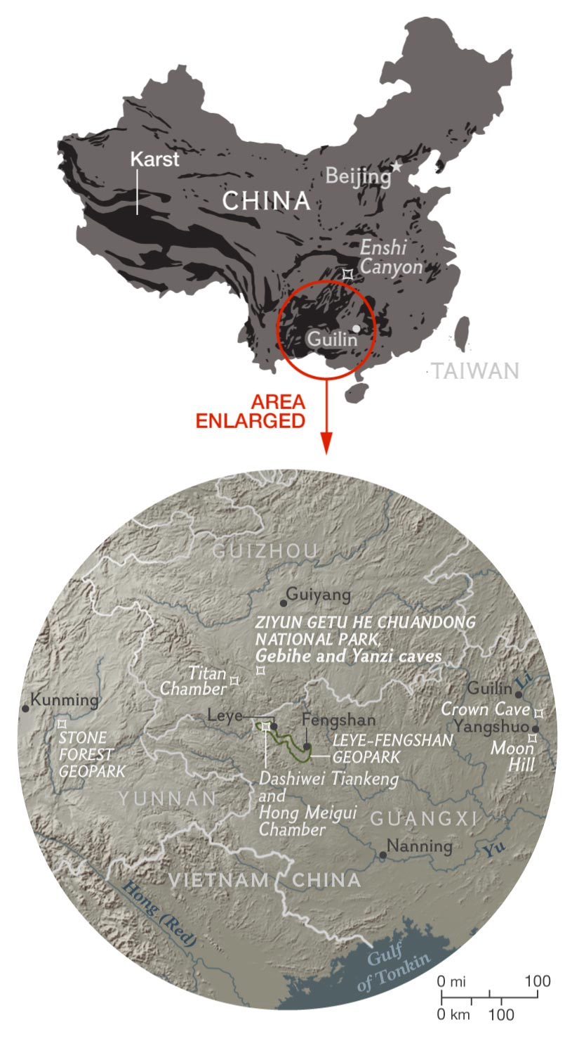 China S Underground Kingdom Southern China Holds The World S Largest Concentration Of The Eroded Topography Called Karst For More Than 600 Million Years