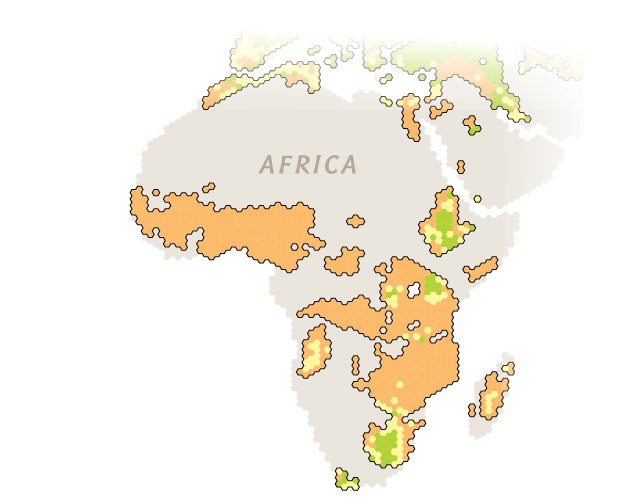 Map Of Potential Changes In Crop Yields In Africa
