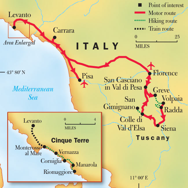 Corniglia Italy Map.Tuscany Cinque Terre Hiking Tour Trip National Geographic