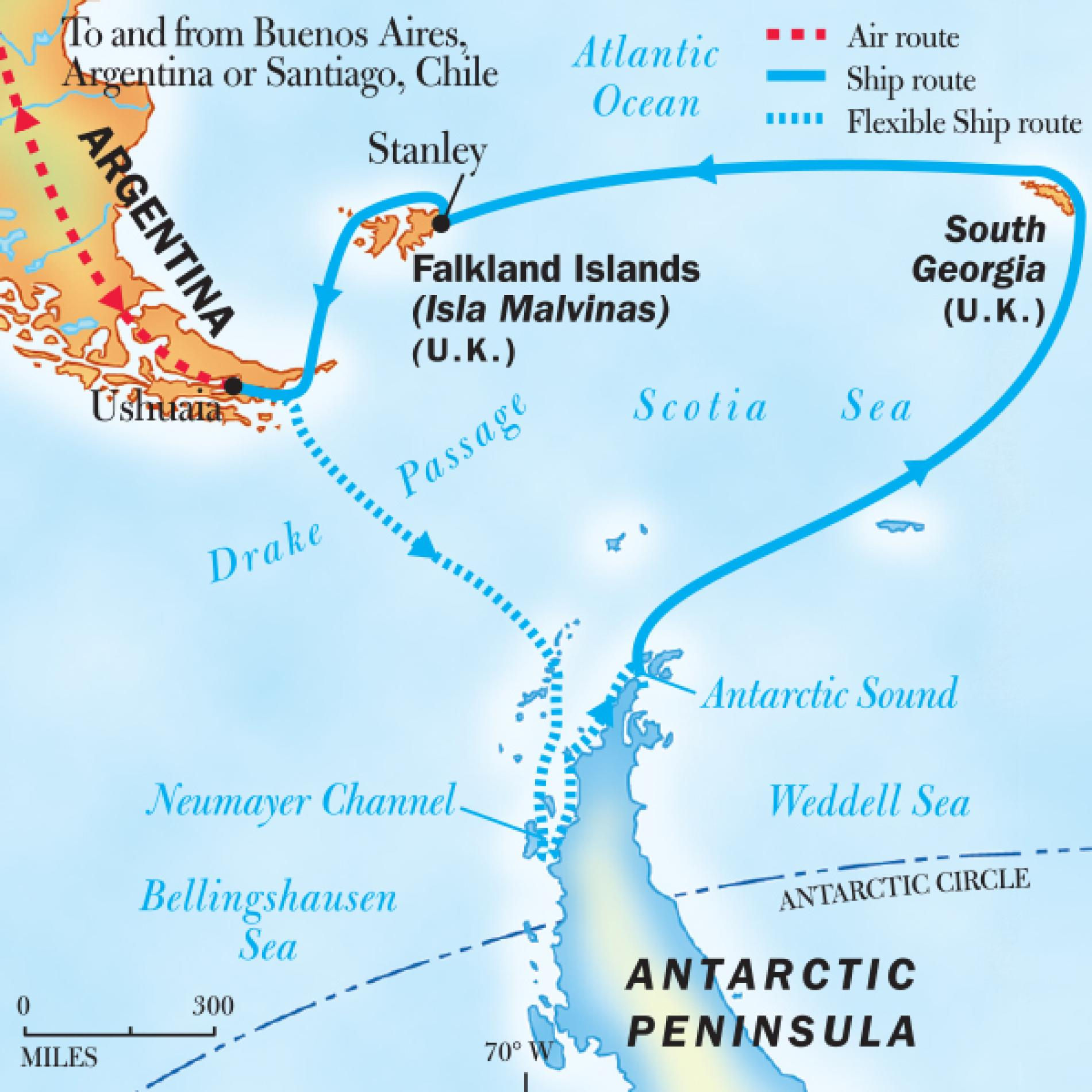 Antarctica, South Georgia, and The Falklands