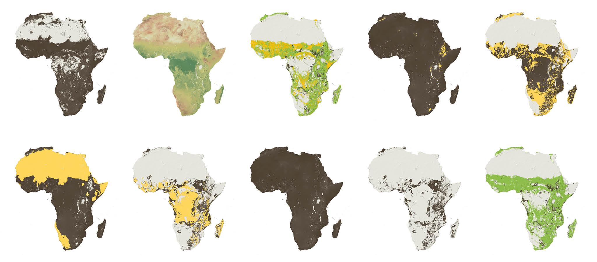 Map of Africa's farmland