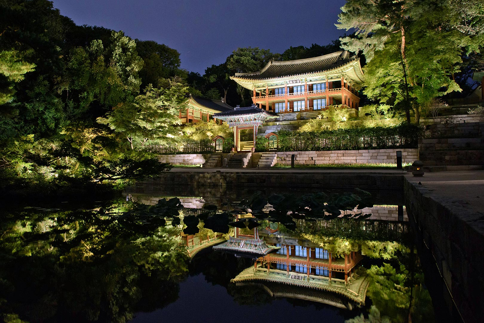 Picture Of Changdeokgung Palace At Night Seoul South Korea