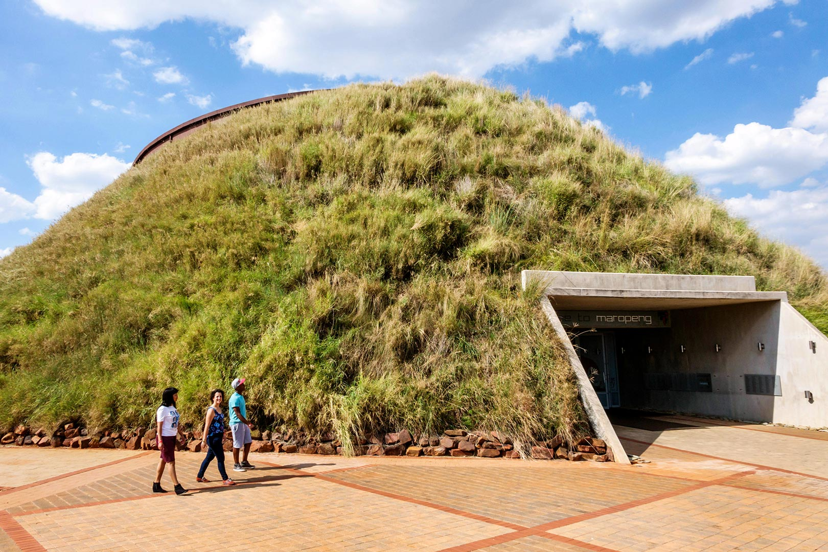Picture of people at the cradle of humankind visitor center africa