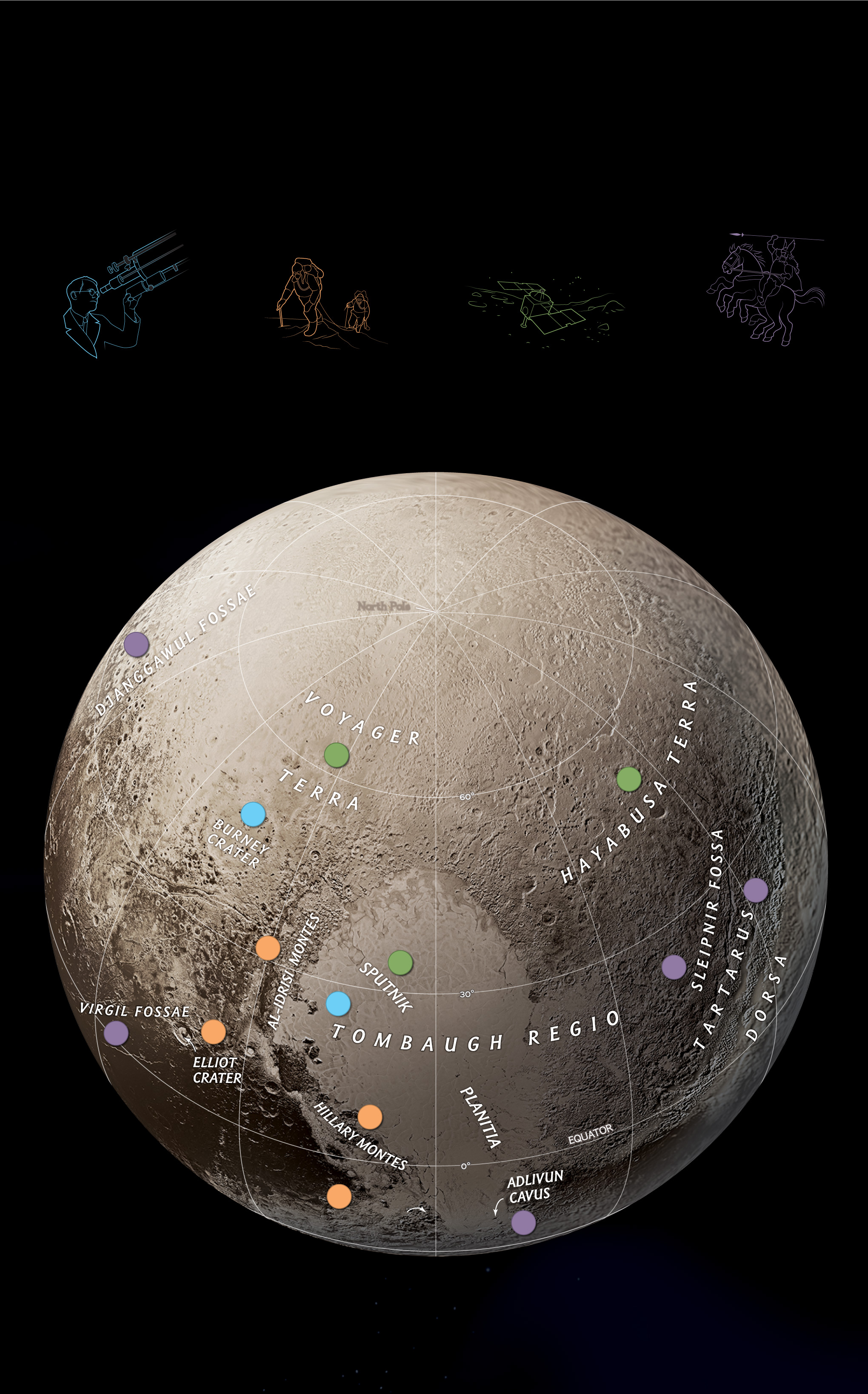see national geographic�s first map of pluto