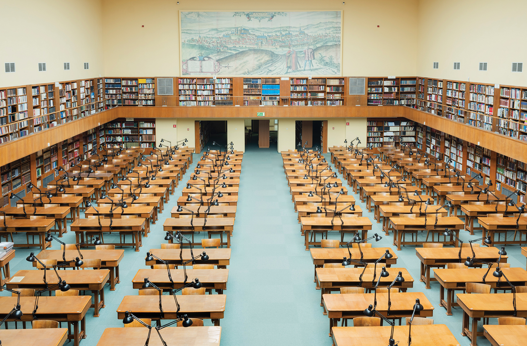 Picture of an empty library in Poland