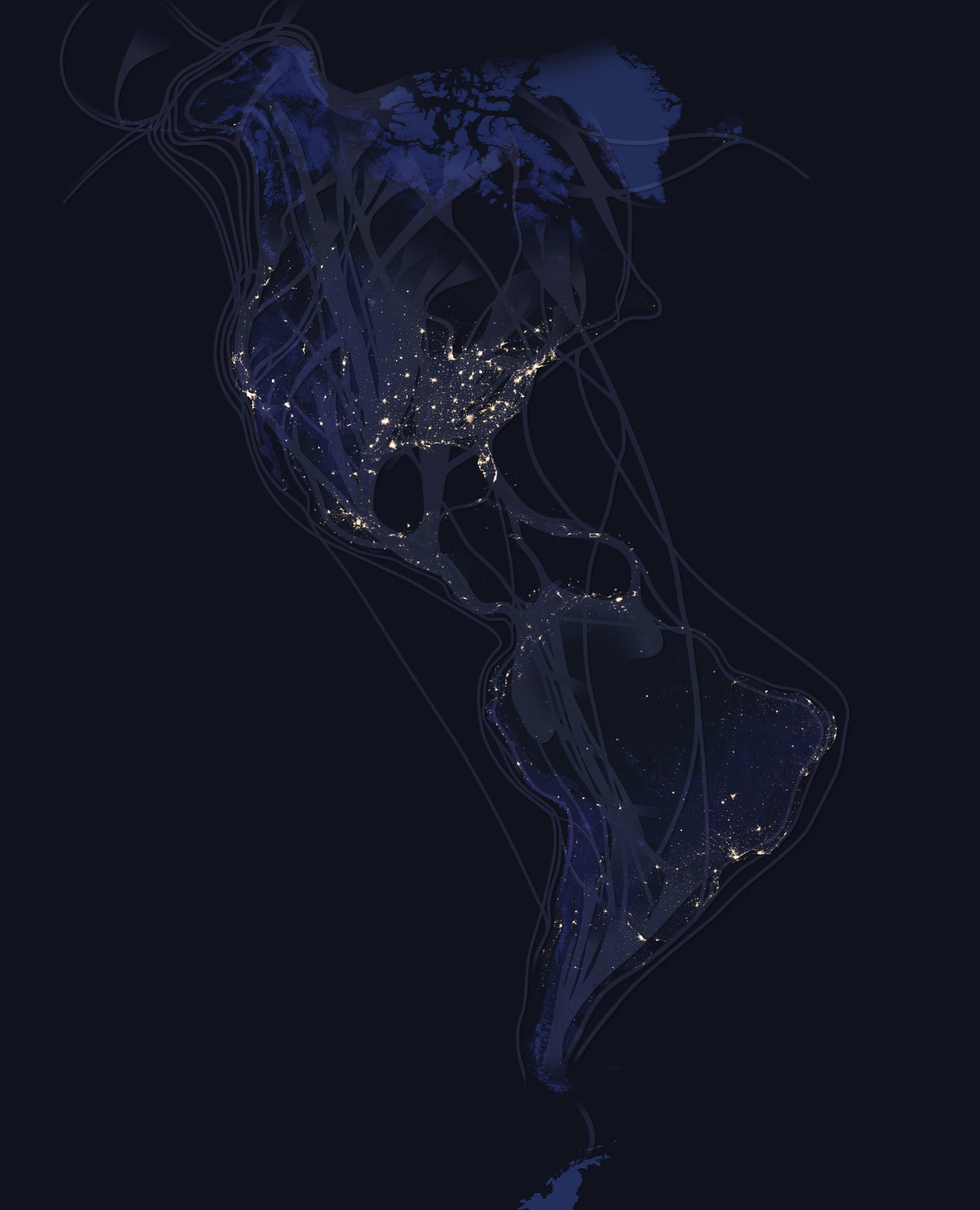 Interactive Map: See How Birds Migrate Throughout the ... on canada at night satellite, world map at night satellite, us map at night satellite,