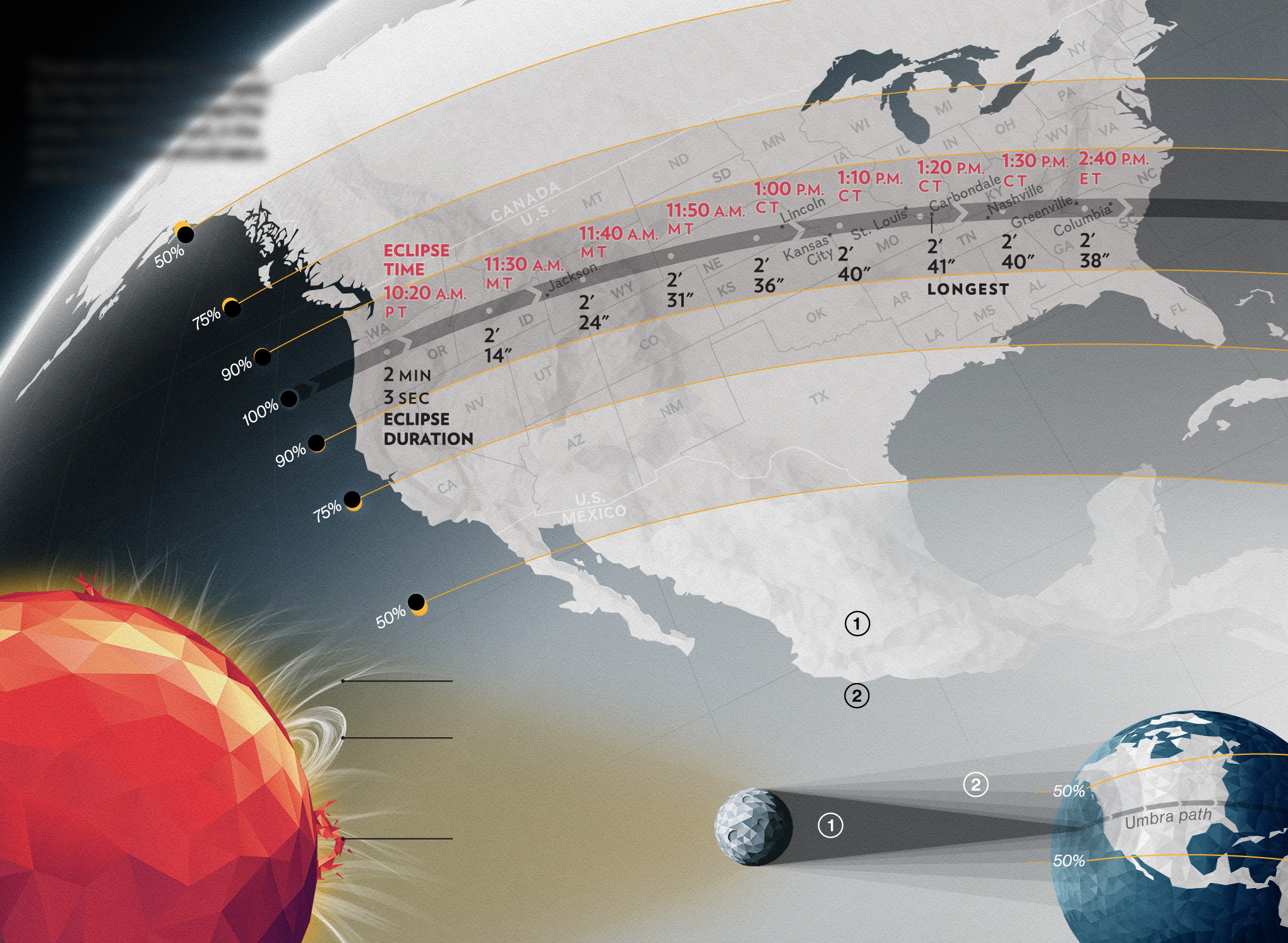Map Of How To Watch The Solar Eclipse National Geographic - Total eclipse us coverage map