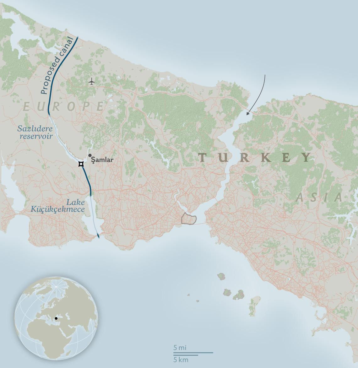 Canal (Kanal) Istanbul May Displace Thousands, Impact Ocean