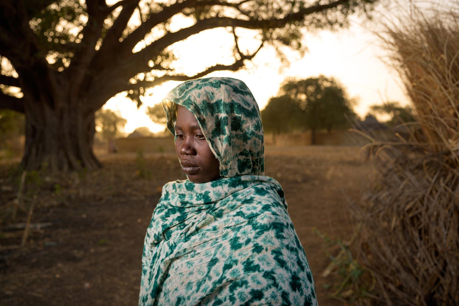 Picture of widow Alissa Mahamat, Zakouma National Park, Chad