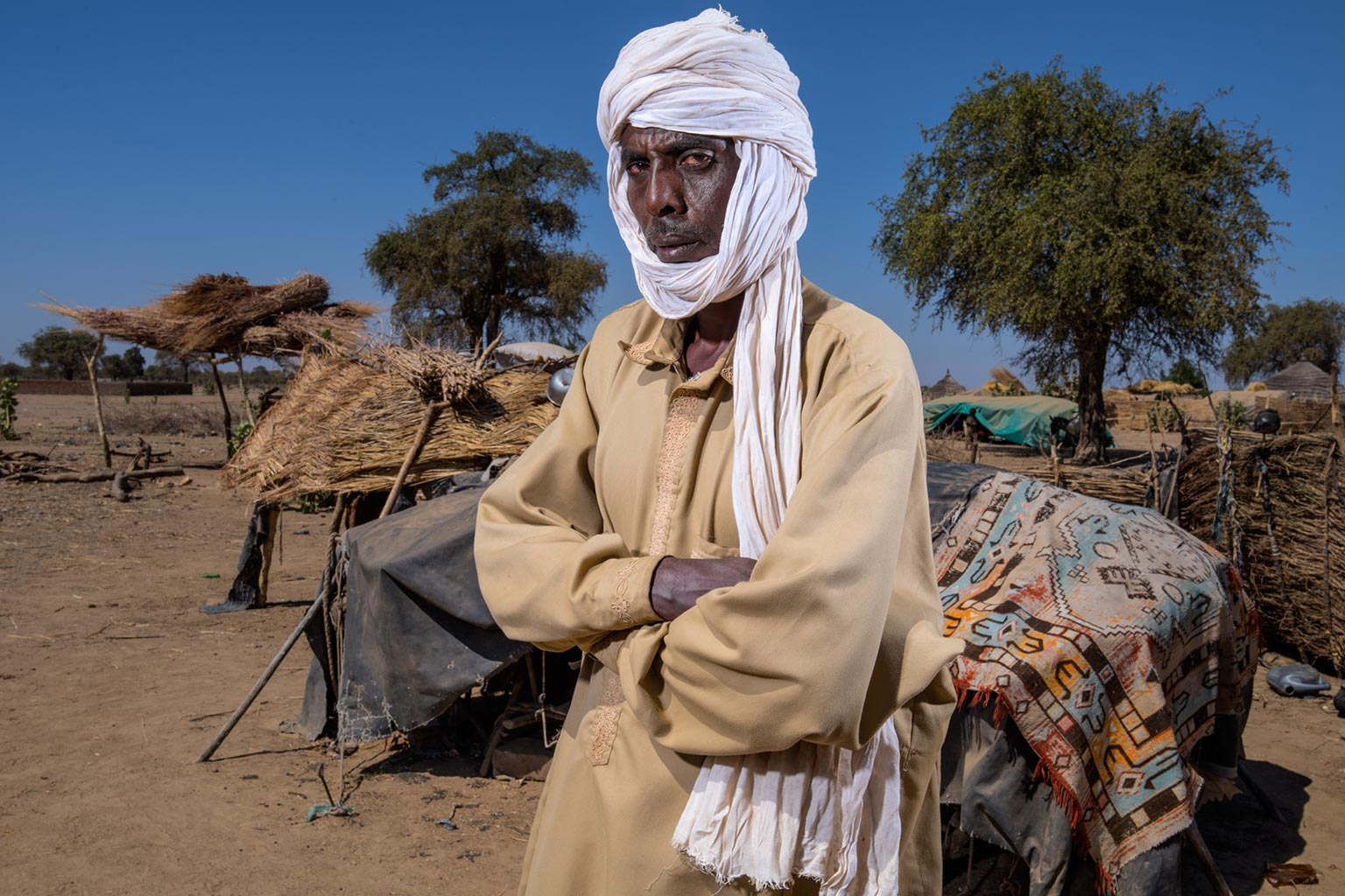 Picture of Mahamat Zene Souleyman, on the outskirts of Am Timan