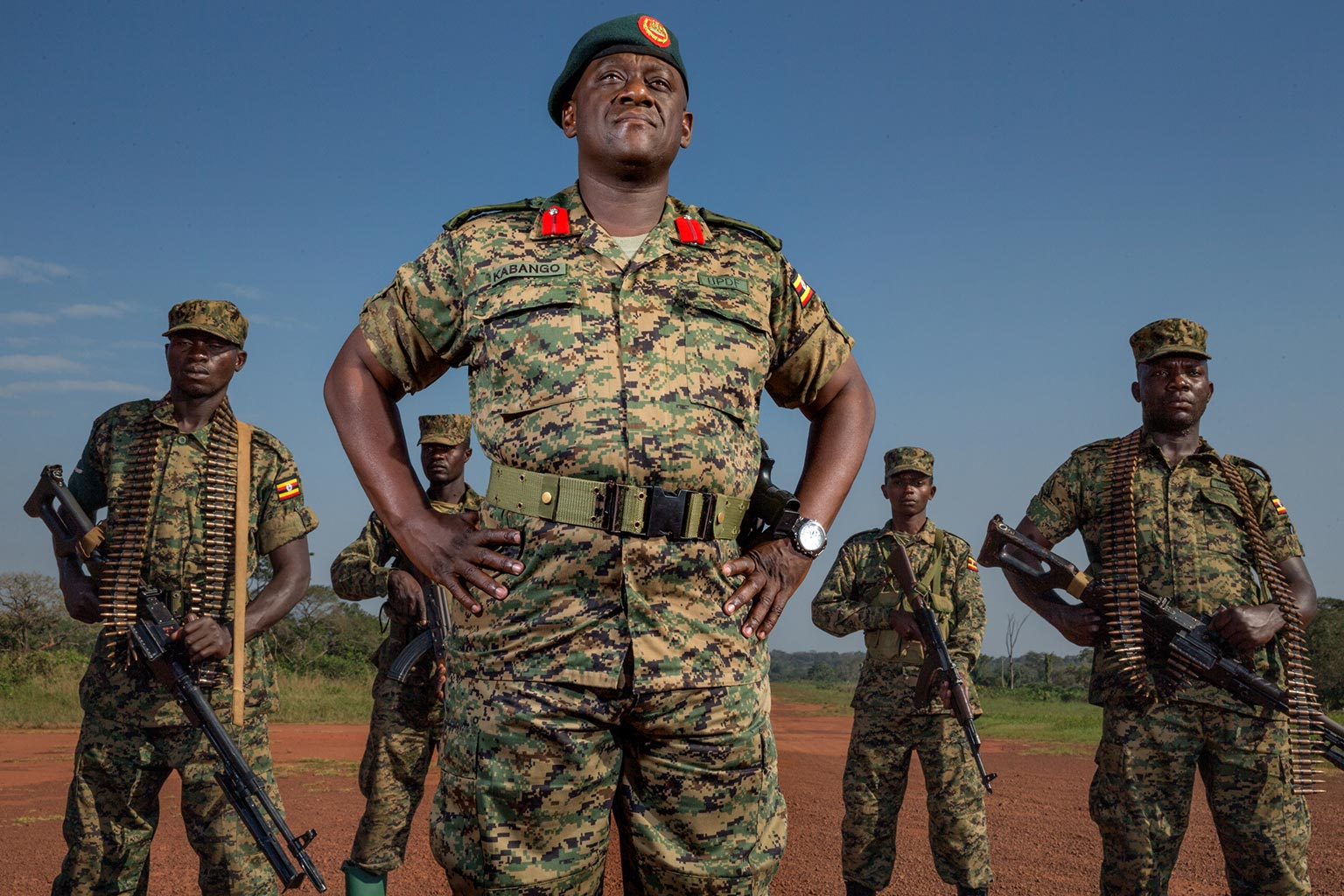 Picture of Mike Kabango of the Uganda People's Defense Forces