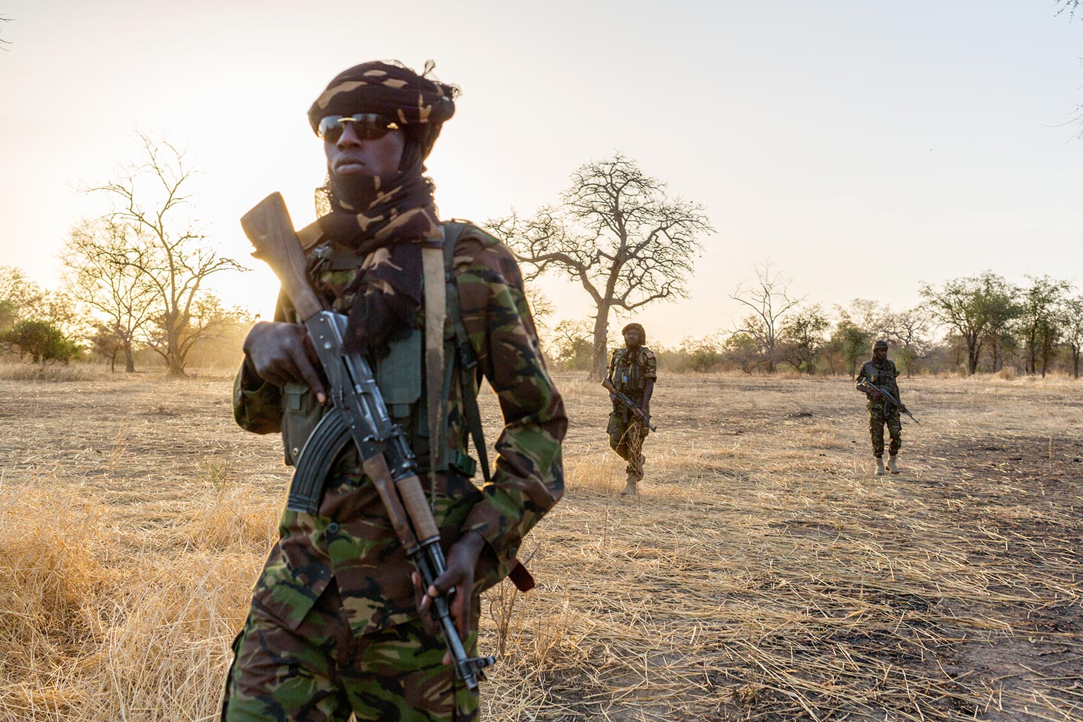 Picture of Zakouma rangers seen inside the park during anti-poaching patrol