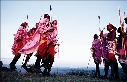 Photo: Maasai warrior dance