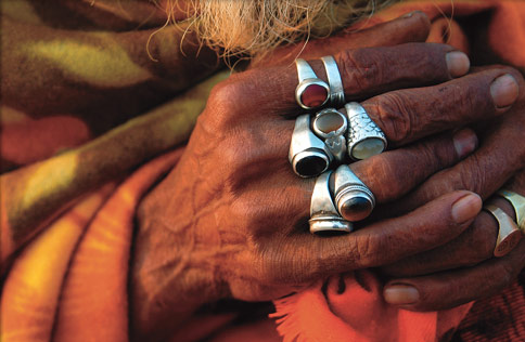 Photo: Pilgrim's hands in India